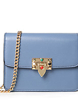 Women Shoulder Bag PU All Seasons Wedding Event/Party Casual Sports Formal Outdoor Office & Career Flap Chain Clasp LockBlushing Pink