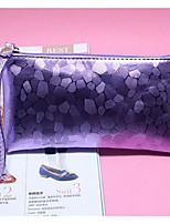 Women Checkbook Wallet PU All Seasons Casual Square Clasp Lock Deep Blue Purple White