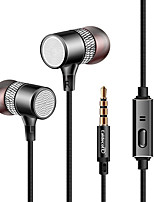 kdk309 In Ear Wired Headphones Dynamic Plastic Mobile Phone Earphone Stereo with Microphone with Volume Control Headset