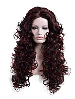 Brown Color Long Wave Africa American wigs Synthetic Ladys' Wigs
