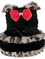 Dog Dress Dog Clothes Casual/Daily Leopard White Black