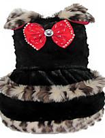 Собака Платья Одежда для собак На каждый день Леопардовый принт Белый Черный