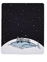 Manquer petite étoile baleine art nouvelle illustration tapis de souris tissu en caoutchouc naturel 20 * 23.8