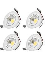 6W Dimmable COB LED Downlights Warm White Cool White LED  AC 110V/220V 4 pcs