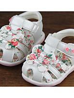 Девочки На плокой подошве Обувь для малышей Дерматин Полиуретан Весна Осень Повседневные Для прогулок Обувь для малышей На липучкахНа