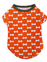 Dog Shirt / T-Shirt Dog Clothes Casual/Daily Polka Dots Orange