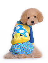 Dog Clothes/Jumpsuit Dog Clothes Casual/Daily Cartoon Fuchsia Blue