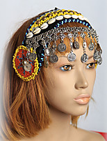 Belly Dance Headpieces Women's Performance Shell Sequined Metal and Silver Coins 1 Piece Tribal Dancing Accessory Headwear Jewelry Bohemian Theme