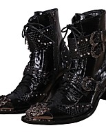 Unisex Boots Cowboy / Western Boots Riding Boots Fashion Boots Motorcycle Boots Bootie Combat Boots Formal Shoes Spring Fall Winter Nappa