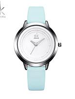 SK Mujer Reloj Deportivo Reloj de Moda Reloj de Pulsera Chino Cuarzo Resistente a los Golpes Esfera Grande PU Banda Cool Casual Elegantes