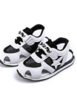 Boys' Sandals Comfort Light Soles Tulle Spring Summer Casual Outdoor Magic Tape Flat Heel Blue Black Flat Walking Shoes