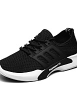 Men's Sneakers Comfort Fall Winter Breathable Mesh Tulle Fabric Athletic Outdoor Lace-up Flat Heel White Black Gray Flat