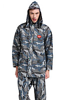 Motorcycle Double Layer Fashion Camouflage Raincoat Rain Trove Suit Outdoor Military Training Waterproof Thick Split
