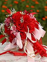 YuXiYing Hemispherical  Rose Orchid Wedding Bride Bouquet