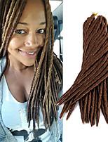 14 18 inch crochet hair braids fauxlocs braiding kanekalon 24 strands Synthetic Fauxlocs black blue blond purple and burgundy faux dreadlocs