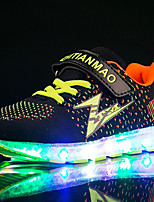 Boys' Athletic Shoes Light Up Shoes Fabric Tulle Spring Summer Fall Winter Athletic Casual Outdoor Running Light Up Shoes Magic Tape LED
