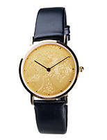 Men's Dress Watch Fashion Watch Quartz Water Resistant / Water Proof Leather Band Black