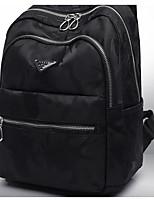 Women Backpack Nylon All Seasons Casual Round Zipper Fuchsia Amethyst Black