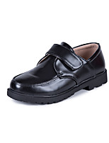 Boys' Oxfords Moccasin Comfort PU Spring Fall Casual Party & Evening Moccasin Comfort Magic Tape Flat Heel Black Flat