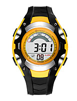 Kid's Sport Watch Digital Water Resistant / Water Proof Rubber Band Red Orange Yellow