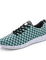 Men's Sneakers Comfort Spring Fall Knit Athletic Casual Outdoor Lace-up Flat Heel Black Black/White Light Green Flat