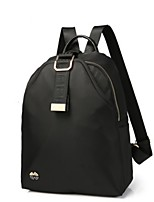 Women Backpack Oxford Cloth All Seasons Casual Traveling Round Zipper Black Green