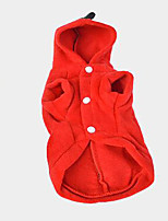 Dog Coat Dog Clothes Casual/Daily Solid Green Ruby