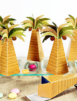 12 Piece/Set Favor Holder - Arabic Palm Tree Favor Boxes Beter Gifts® DIY Events Party Decoration 4 x 4 x 13 cm/pcs