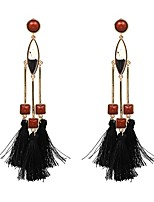 Women's Drop Earrings Jewelry Tassel Bohemian Adjustable Hypoallergenic Gothic Oversized Fashion Plush Fabric Alloy Geometric Jewelry For