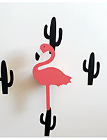 Wedding Wood Flamingo Hooks/Children's Room Wall Hanging Wall Hook Decoration