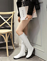 Women's Shoes PU Spring Comfort Boots Stiletto Heel For Casual White Black Burgundy
