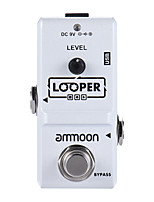 Ammoon AP-09 Nano Series Loop Electric Guitar Effect Pedal Looper True Bypass Unlimited Overdubs 10 Minutes Recording with USB Cable