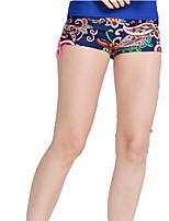 SBART Damen Chinlon Taucheranzug Shorts/Laufshorts-Schwimmen Strand Surfen Schnorcheln Ganzjährig Blumen