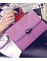 Women Shoulder Bag PU All Seasons Casual Outdoor Round Clasp Lock Purple Gray