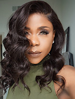 2017 Hot Selling Natural Wave Hair Style Guleless Lace Front Wigs Side Part Natural Hairline Bob Wig For Black Women