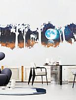 Animaux Paysage Stickers muraux Autocollants avion Autocollants muraux décoratifs,Papier Matériel Décoration d'intérieur Calque Mural