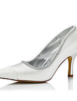 Femme Chaussures à Talons Confort Soie Automne Hiver Mariage Habillé Soirée & Evénement Confort Talon Aiguille Ivoire 5 à 7 cm