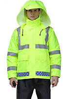 Motorcycle Raincoat Reflective Cotton Jacket Winter Traffic On Charge Warning Safety Cotton Coat Removable Cotton Clothes