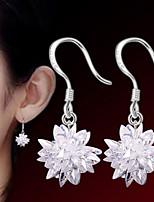 Mujer Pendients de aro Diseño Básico Cristal Joyas Para Fiesta