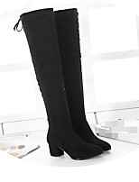 Women's Boots Comfort Suede Winter Casual Comfort Almond Black 2in-2 3/4in