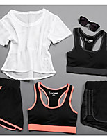 Women's Short Sleeve Running Tracksuit Underwear Tank Clothing Suits Cycling Fitness, Running & Yoga Boating Casual Sports All Seasons
