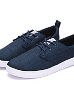 Men's Sneakers Light Soles Summer Fall Leatherette Casual Flat Heel Brown Navy Blue 1in-1 3/4in