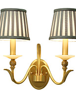 E12/E14 Tiffany simple Traditionnel/Classique Rustique Laiton Fonctionnalité for Style mini Ampoule incluse,Vers le Haut Applique murale
