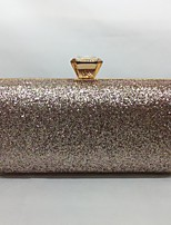 Women Evening Bag Metal All Seasons Event/Party Rectangular Push Lock Silver Black Gold Champagne