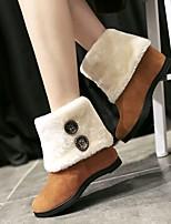 Для женщин Ботинки Удобная обувь Полиуретан Весна Зима Повседневные Удобная обувь Черный Серый Желтый Вино На плоской подошве