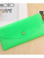 Women Checkbook Wallet PVC All Seasons Casual Envelope Snap Green Navy Blue Yellow