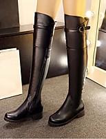 Для женщин Ботинки Удобная обувь Модная обувь Полиуретан Осень Зима Повседневные Удобная обувь Модная обувь Черный 4,5 - 7 см