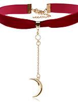 Жен. Ожерелья-бархатки Стразы MOON Сплав Уникальный дизайн Бижутерия НазначениеДля праздника / вечеринки На каждый день Одежда для отдыха