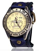 Муж. Часы-браслет Уникальный творческий часы Повседневные часы Имитационная Четырехугольник Часы Китайский Кварцевый Кожа Группа Винтаж С