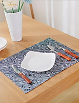 Modern Printing Double-layer Cotton And Linen Table Placemat 32*45cm
